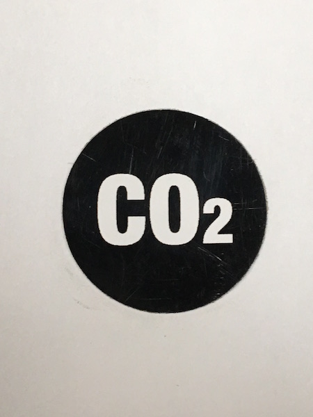 CO2 HANDLE STICKER